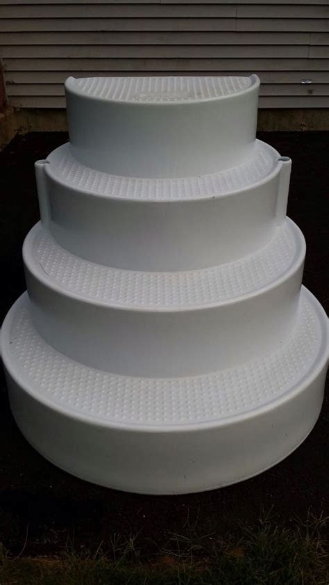 wedding cake pool stairs   eBay