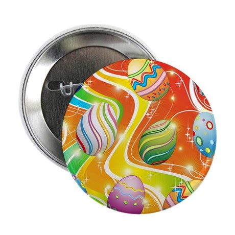 "Happy Easter Eggs Design 2.25"" Button (10 pack)"