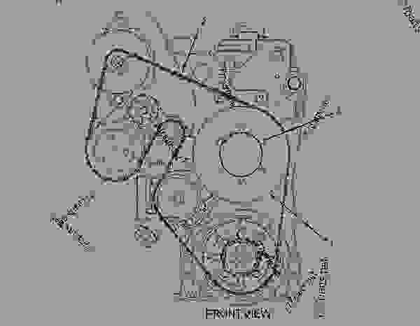 33 Cat C13 Serpentine Belt Diagram