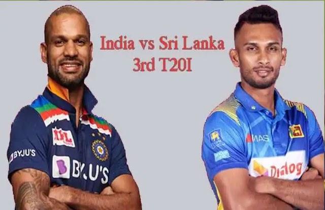 india vs sri lanka 3rd t20i LIVE : टीम इंडिया को लगा पहला झटका, शिखर धवन 0 रन पर आउट