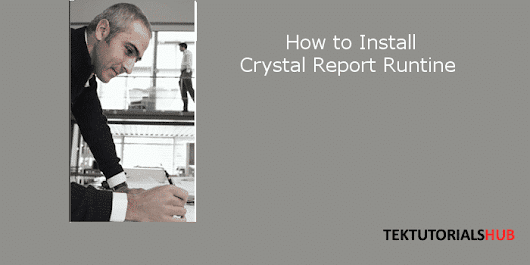 How to download and install crystal report runtime.