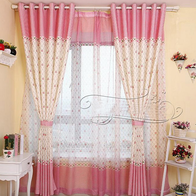Country Flower Blackout Eco-friendly Children Room Curtain (Two ...