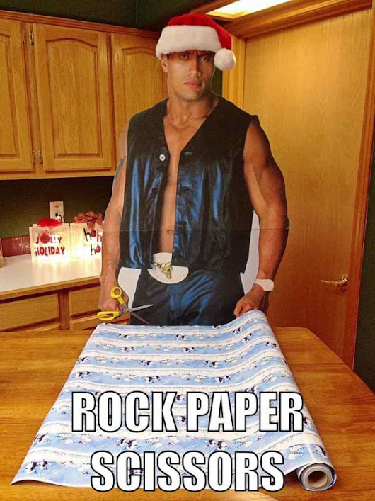 And now for some random humor – The Rock!
