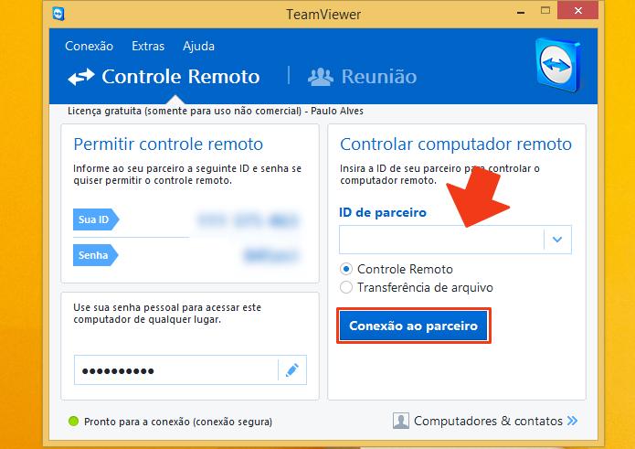 Insira uma ID para se conectar a outro PC (Foto: Reprodução/Paulo Alves)