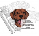 Plott Hound Dog Scrollsaw Intarsia or Yard Art Woodworking Pattern - fee plans from WoodworkersWorkshop® Online Store - Plott Hound Dogs,pets,animals,dog breeds,yard art,painting wood crafts,scrollsawing patterns,drawings,plywood,plywoodworking plans,woodworkers projects,workshop blueprints