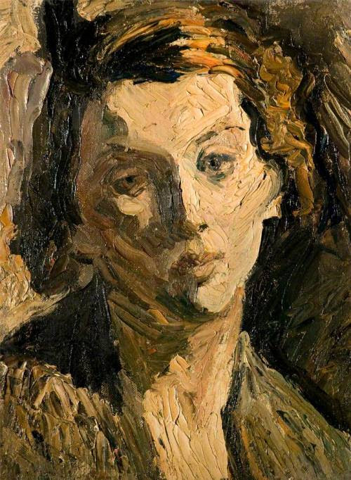 poboh:  Head of a girl, Ronald Ossory Dunlop. Irish (1894 - 1973)
