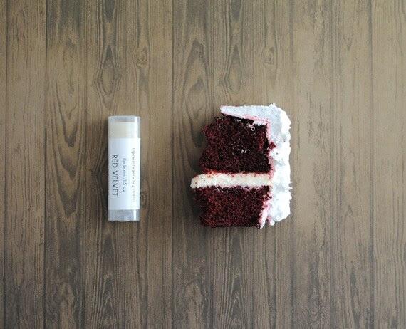 Red Velvet Lip Balm - Shea Butter, Beeswax, Cocoa Butter