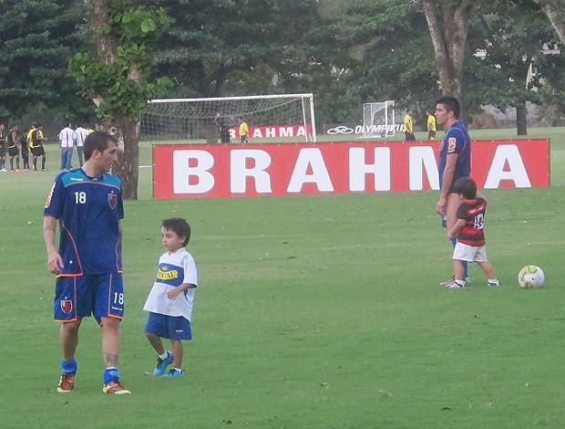 Bottinelli Fierro treino Flamengo (Foto: Richard Souza / Globoesporte.com)