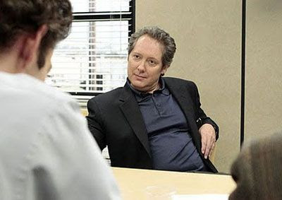 James Spader, shown here in a screenshot from the hit NBC TV show THE OFFICE, will play Ultron in AVENGERS: AGE OF ULTRON.