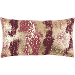 Rizzy Home Abstract Decorative Lumbar Pillow, Red