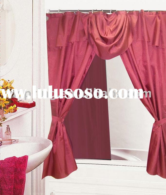 Shower Curtains With Valance And Tie Backs | Decorator Showcase : Home