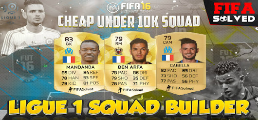 FIFA 16 Cheap Under 10K French Ligue 1 Squad