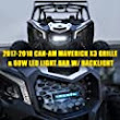 Amazon.com: Xprite Black Steel Mesh Grille with C6 60W LED Light bar with Backlight for 2017-2018 Can-Am Maverick X3: Automotive
