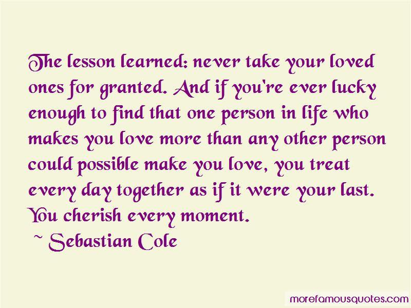 Sebastian Cole Quotes Top 8 Famous Quotes By Sebastian Cole