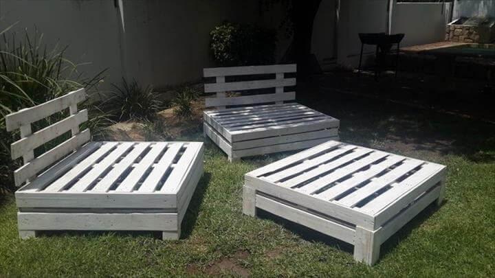 DIY Designed Pallet Patio Furniture Set | 101 Pallets