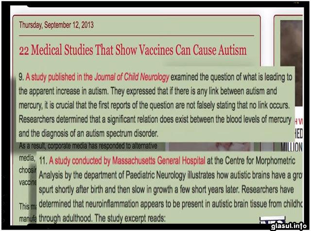In SUA, a existat mai multe scandaluri legate de aceste vaccinuri, iar anumite organizatii civice sau jurnalisti de investigatie au descoperit ca aparitia unora dintre bolile moderne a fost simultana cu aparitia unor vaccinuri obligatorii pe care copiii americani trebuiau sa le faca.