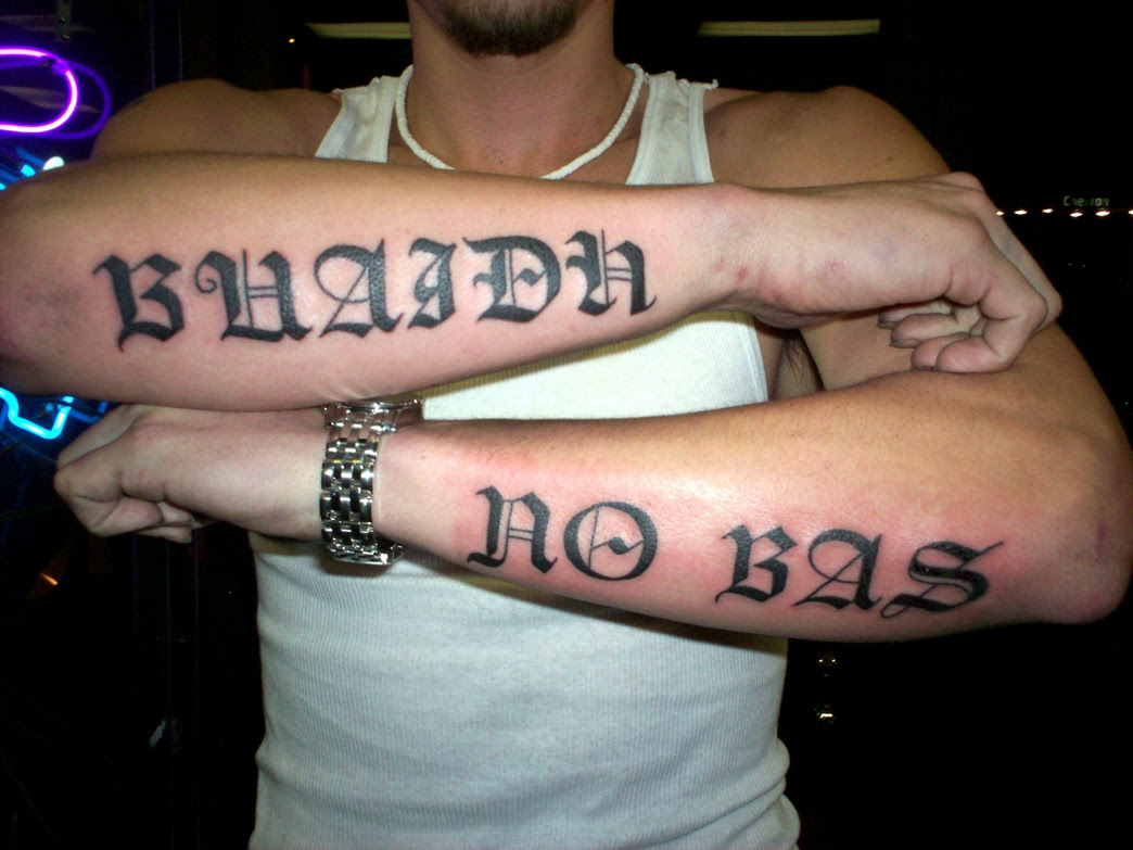 Yes, OLD ENGLISH Tattoo Picture