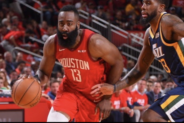 41bb47509d1 Harden drops triple-double as Rockets roll past Jazz