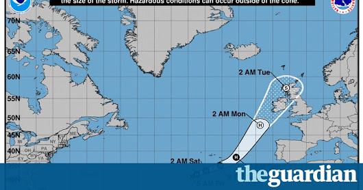 Storm Ophelia: third person killed in Ireland, police confirm - latest updates | World news | The Guardian