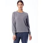 Alternative Lazy Day Burnout French Terry Pullover Sweatshirt M Nickel , Alternative Apparel