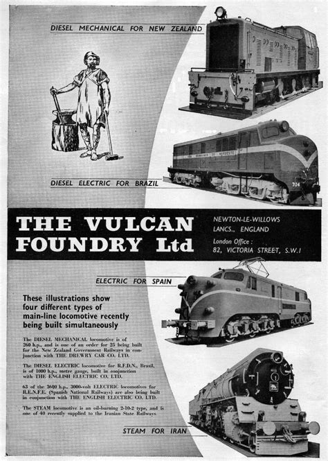 Vulcan Locomotive Works Advertising History
