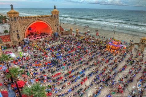 The Daytona Beach Bandshell located in Oceanfront Park can