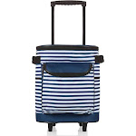 Picnic Time Cooler on Wheels - Navy