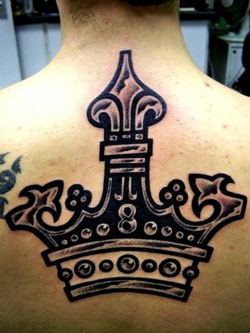 Large Black Crown Tattoo On Back Tattoos Book 65000 Tattoos Designs