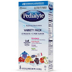 Pedialyte Electrolyte Drink Powder Variety Pack - 8 count, 0.3 oz sticks