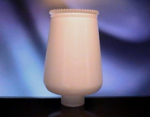 White Hurricane Lamp Shade 1 5/8 inch Fitter x 6.25 Beaded Rim