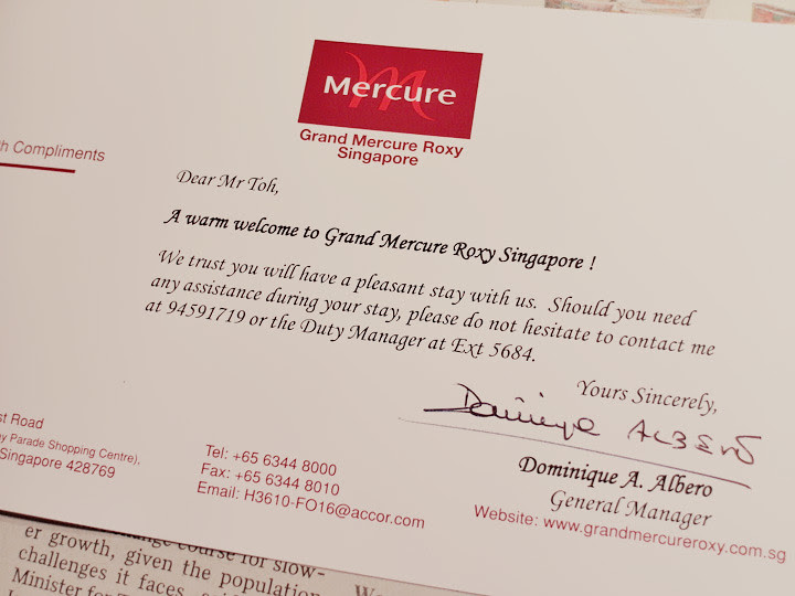 grand mercure roxy hotel letter