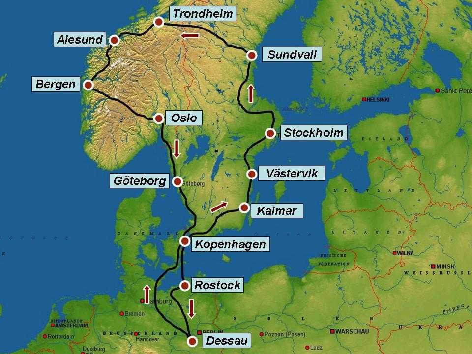 Karte Schweden Dänemark Deutschland.Top Sehenswürdigkeiten September 2018