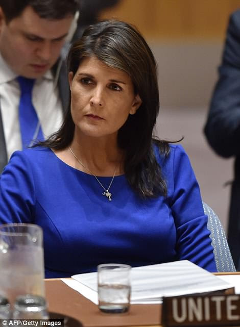 Ambassador Haley told the UN Security Council the US was ready to strike again if Assad crossed the chemical weapons 'red line' in the future