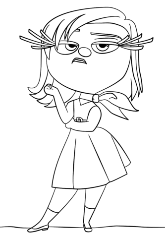 Inside Out Coloring Pages Free Coloring Pages