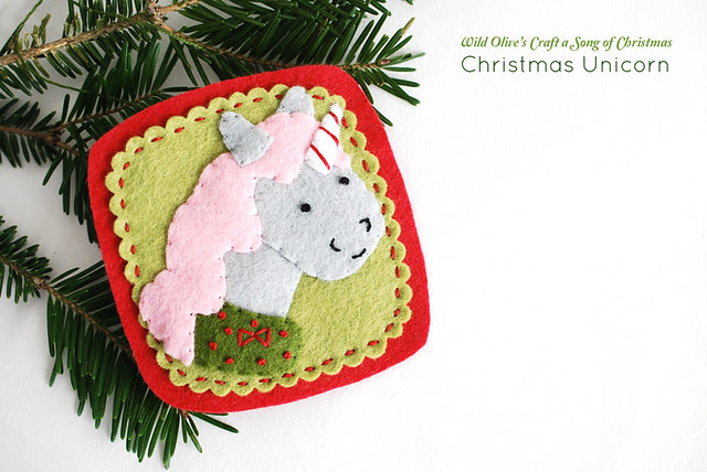 Christmas Unicorn Ornament
