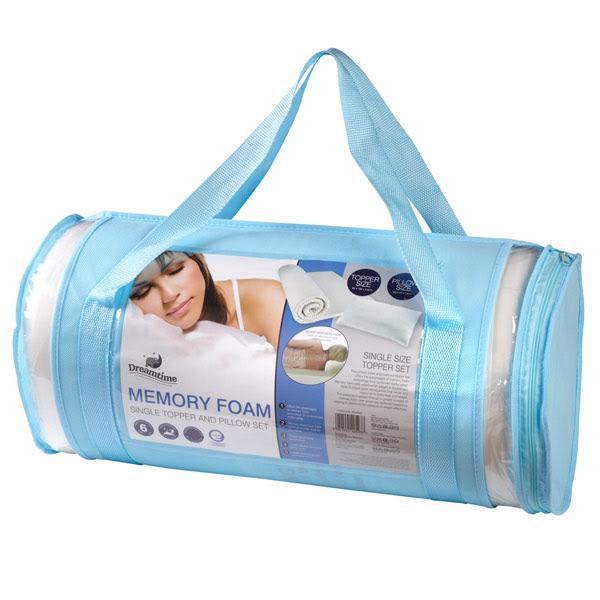 Dreamtime Memory Foam Mattress Topper And Pillow Set | eBay
