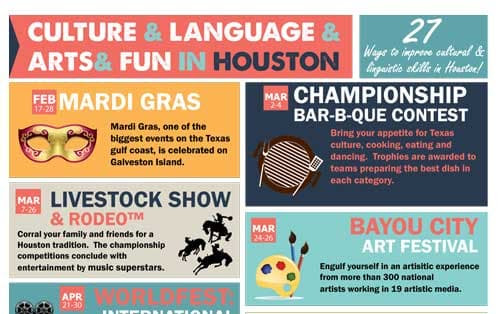 Houston Festivals: Houston Cultural Events - 24 Hour Translation Services