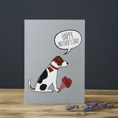 Jack Russell Mother's Day Card £2.75   Mischievous Mutts
