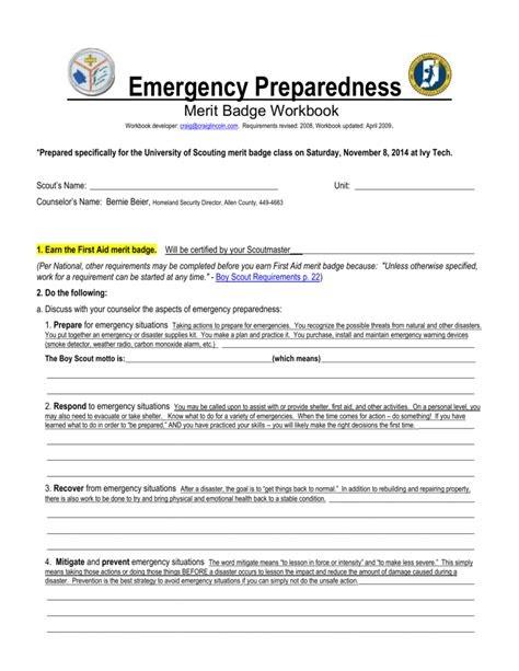 Free PDF answers to emergency preparedness merit badge ...