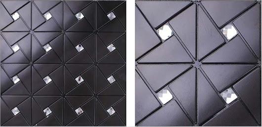 metallic tile kitchen backsplash wall tiles diamond crystal glass mosaic black metal aluminum panel
