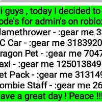 Roblox Gear Codes Sword July 2019 Adopt Me Codes Roblox