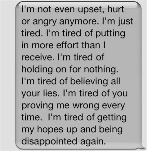 Im Tired Of Being Hurt Quotes