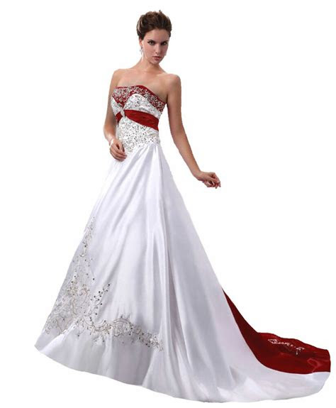 embroider ball gown wedding dresses  size  white