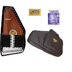 Oscar Schmidt 'Berkshire' 15 Chord Autoharp, Maple Body, Sunburst Finsih, OS15B Bundle, OS15B AC445PACK