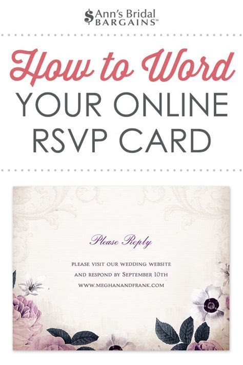 Response Card Wording Examples for Online RSVPs