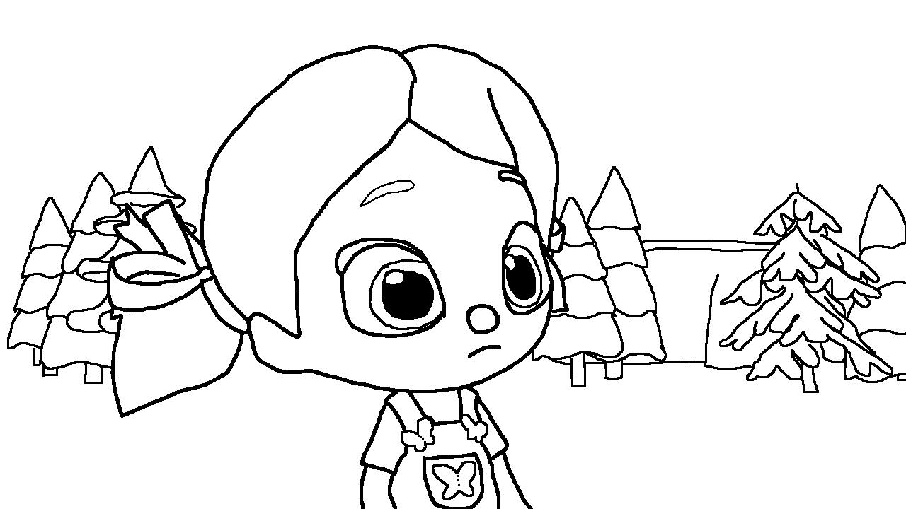Niloya çizgi Filmi Boyama Sayfaları