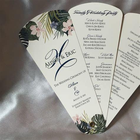 Petal Fan Wedding Program Template Free
