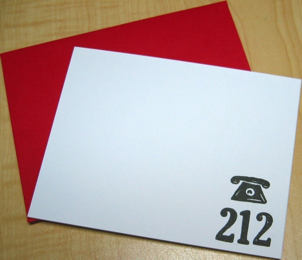NYC - 212 Area Code Stationery - Set of 6