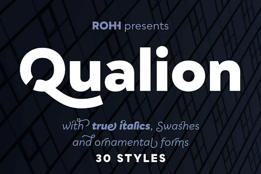 Qualion Font Family of 30 Modern Typefaces - only $29!