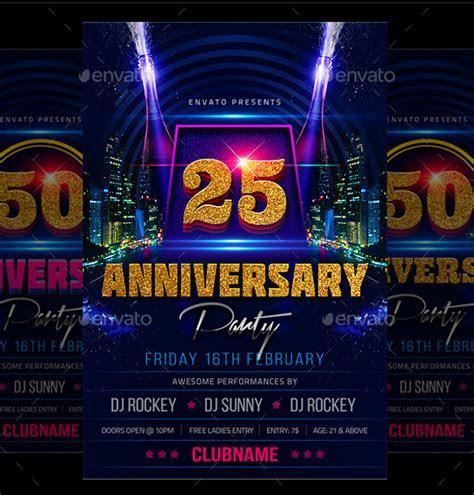 25  Elegant Anniversary Flyer Templates   PSD, AI, InDesign